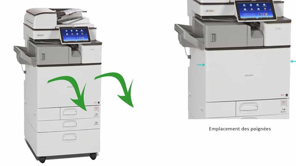 Ouvrir le capot avant du photocopieur