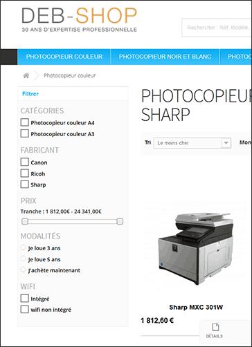 louer mon photocopieur multifonction location photocopieur deb shop. Black Bedroom Furniture Sets. Home Design Ideas