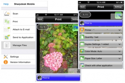 A quoi sert l'application Sharpdesk Mobile pour un photocopieur Sharp?